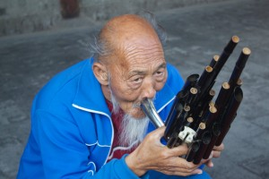 A street musician in China