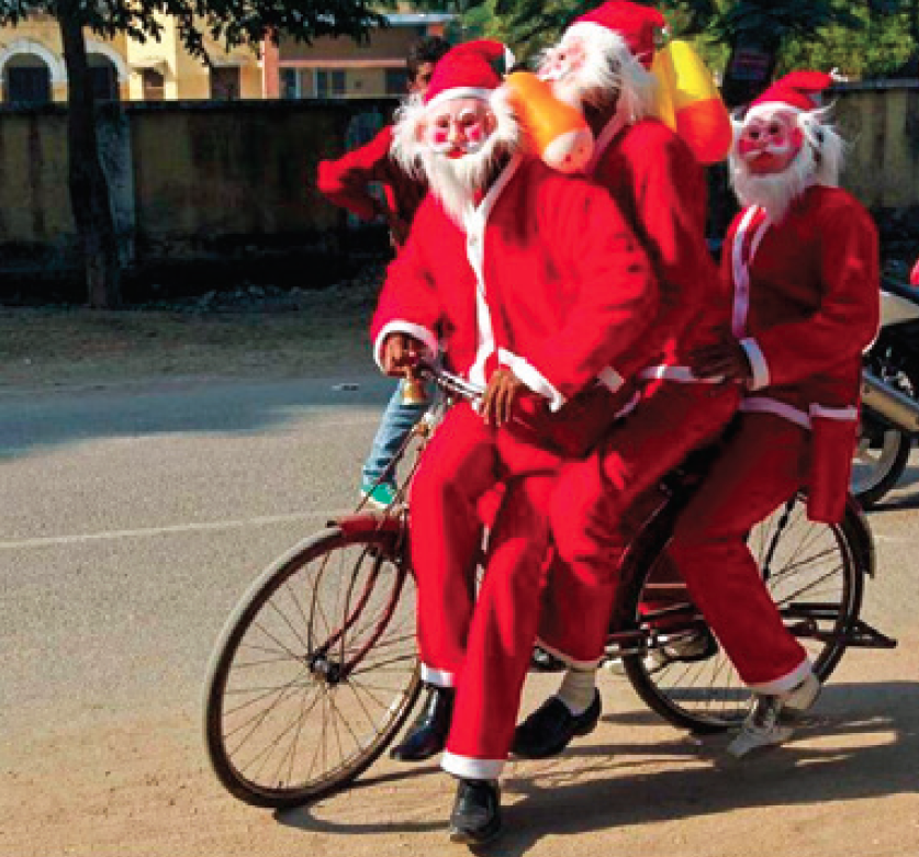 the fun side of christmas in india